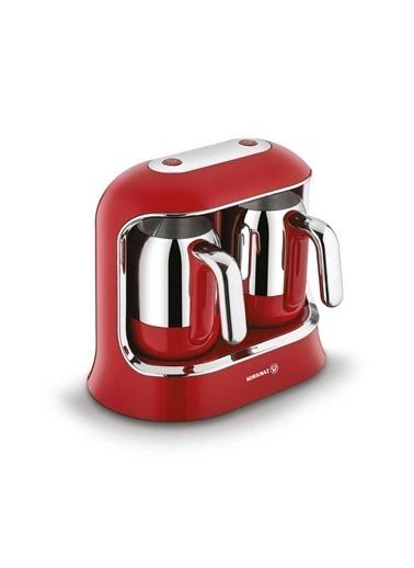 Korkmaz Kahvekolik Twin Kırmızı/Krom Otomatik Kahve Makinesi Kırmızı